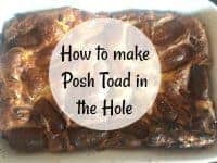 Posh toad in the hole....