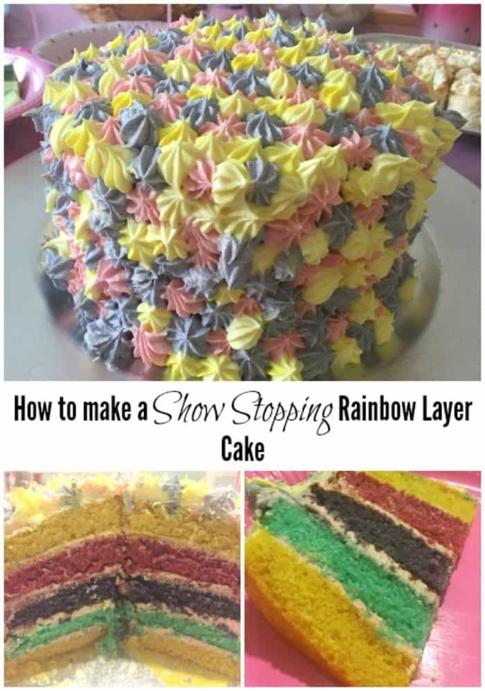 How to make a Show Stopping Rainbow Layer Cake
