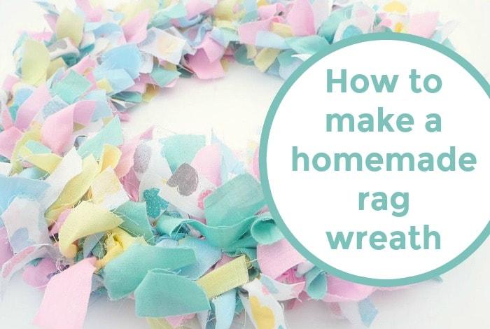 How to make a homemade rag wreath. Super cheap and super pretty!