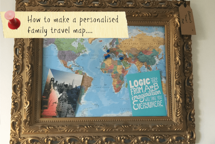 Create your own personalised family travel map The Diary of – Family Travel Map
