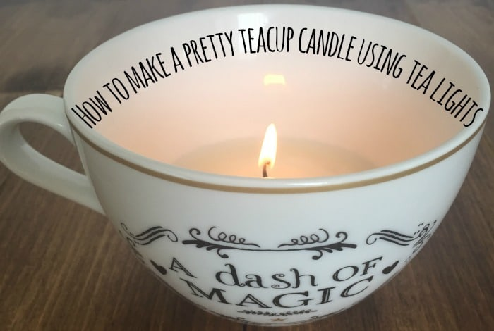 How to make a pretty teacup candle using tea lights....