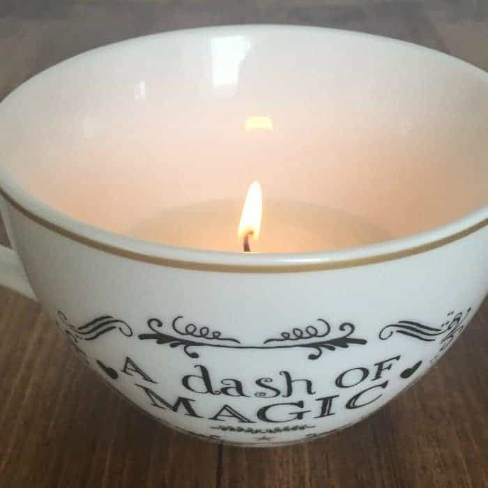How to make a tea cup candle - the cheats way using just a favourite mug and some tealights