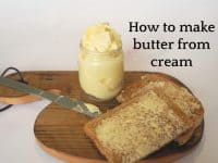 How to make butter from cream....