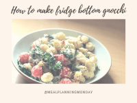 #MealPlanningMonday - Fridge bottom gnocchi. ....
