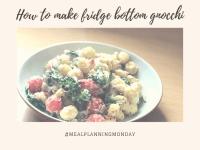 #MealPlanningMonday - Fridge bottom gnocchi. ....