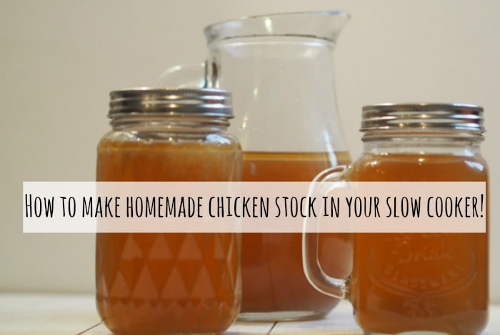 How to make homemade chicken stock in your slow cooker....