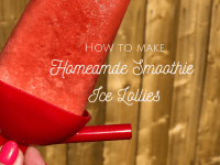 Homemade Smoothie Ice Lollies...