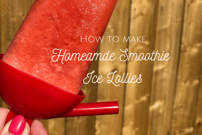 How to make homemade smoothie ice lollies