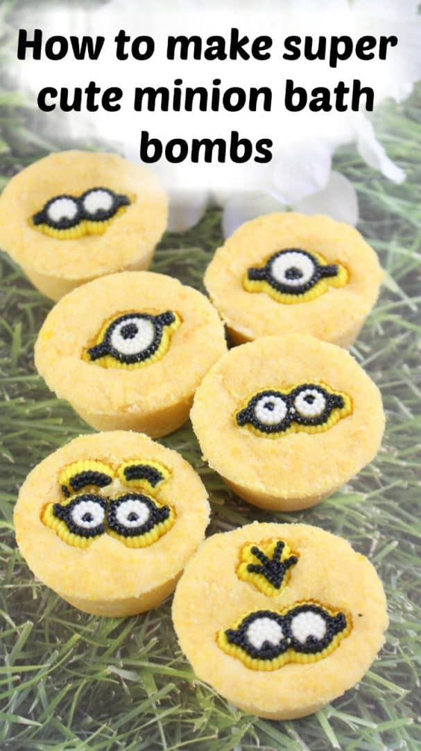 How to make super cute minion bath bombs. A great homemade gift or just a fun craft to do with the kids.