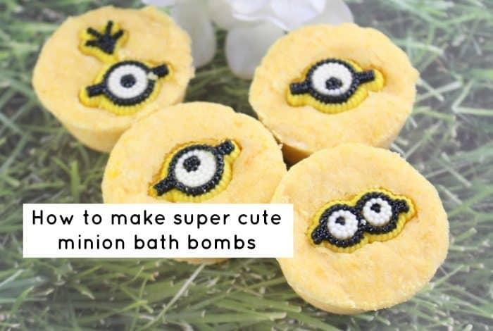 How to make super cute minion bath bombs