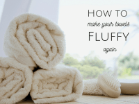 How to make towels fluffy again....