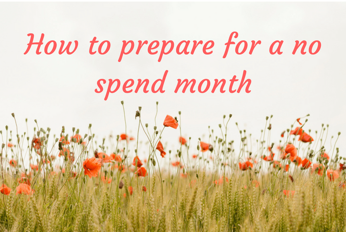How to prepare for a no spend month