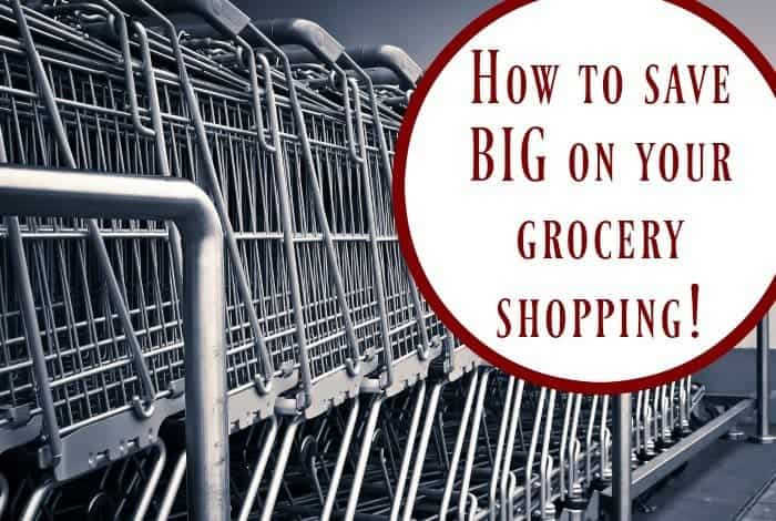 How to save BIG on your grocery shopping....