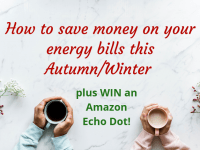 How to save money on your energy bills this Autumn/Winter plus WIN an Amazon Echo Dot!