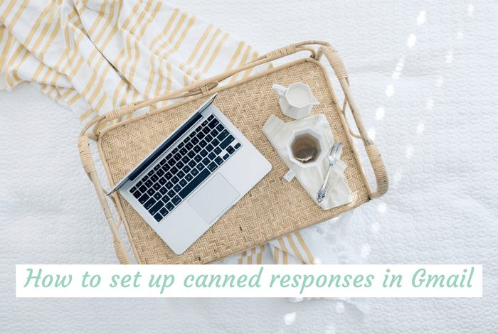 How to set up canned responses in gmail.
