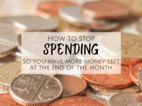 How to stop spending....