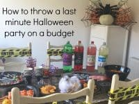 How to have an AMAZING last minute Halloween party without breaking the bank....