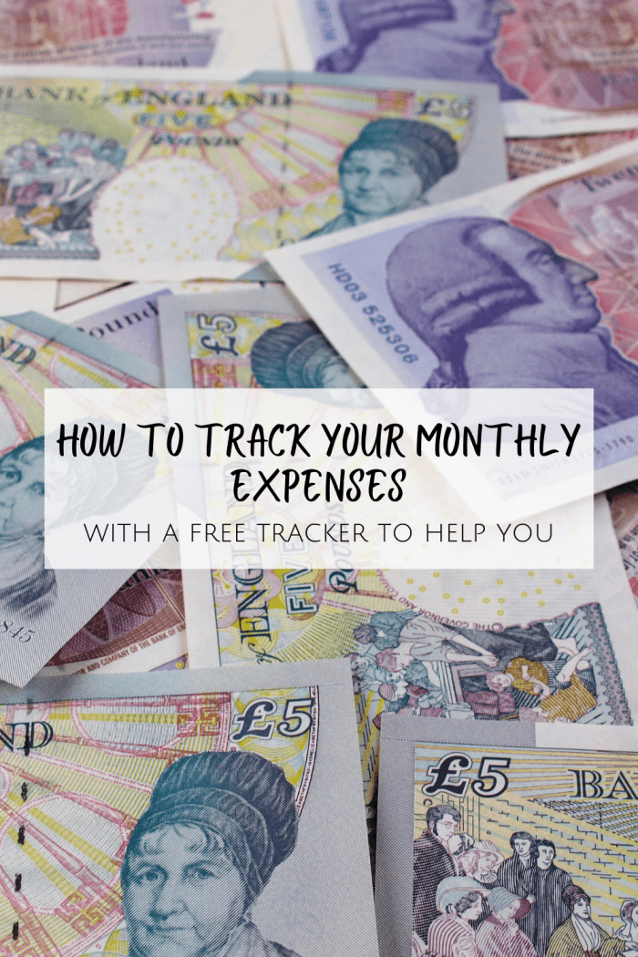 How to track your monthly expenses...