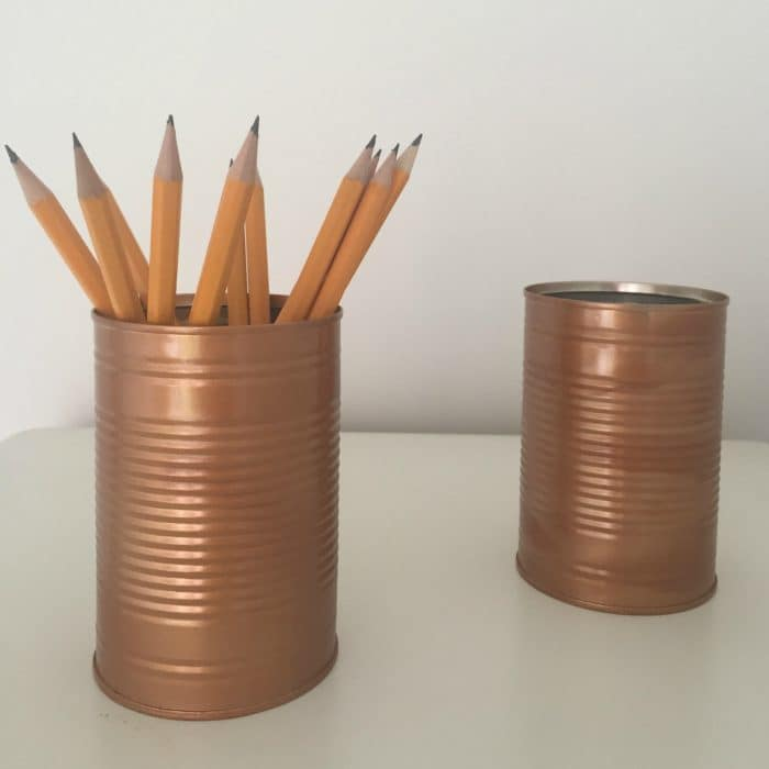 How to turn a tin can from the recycling pile into something pretty....
