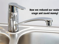 How we reduced our water comsumption....