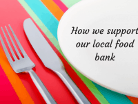 How we support our local food bank....