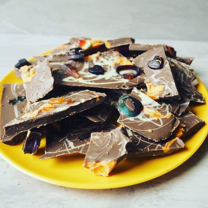 Homemade chocolate bark