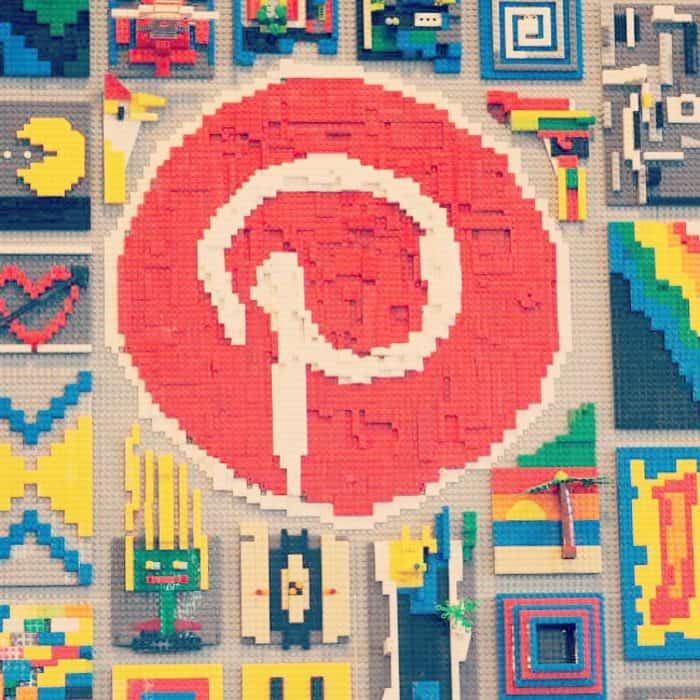 The Pinterest Logo in Lego