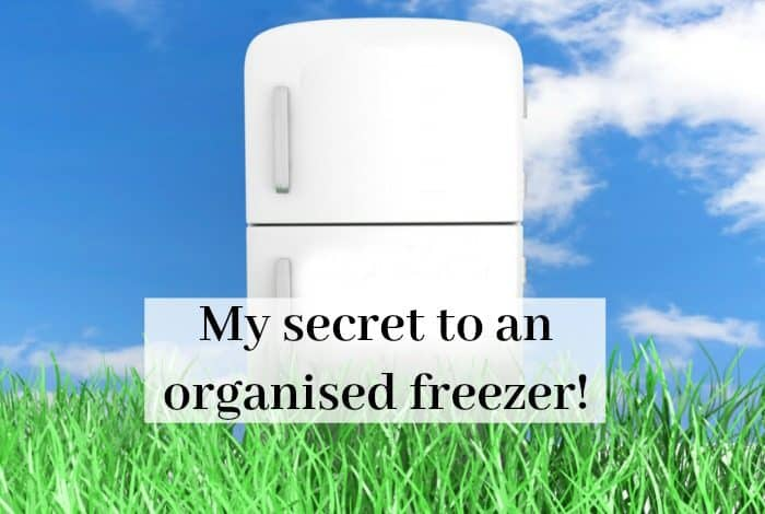 My secret to an organised freezer!
