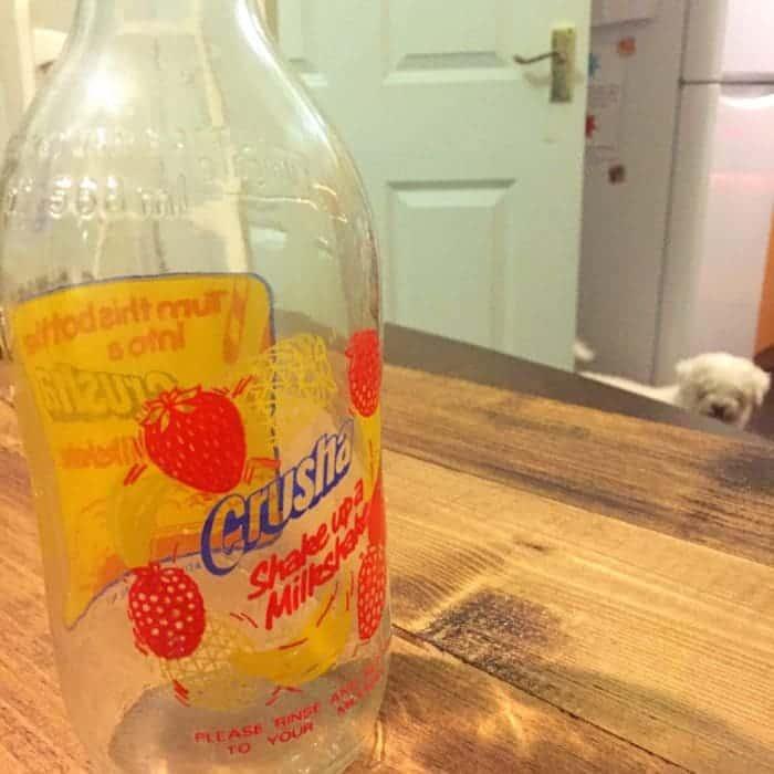 Vintage crusha milk bottle