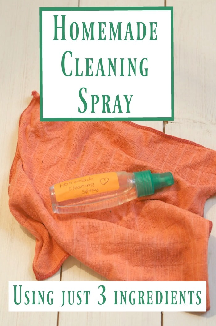 Homemade cleaning spray using just three ingredients. SImple, effective and cheap!