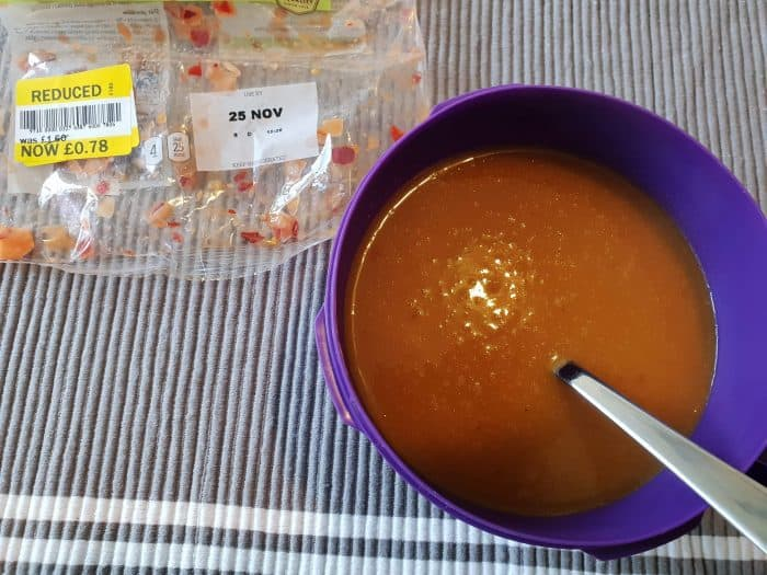 Cheap soup for lunches