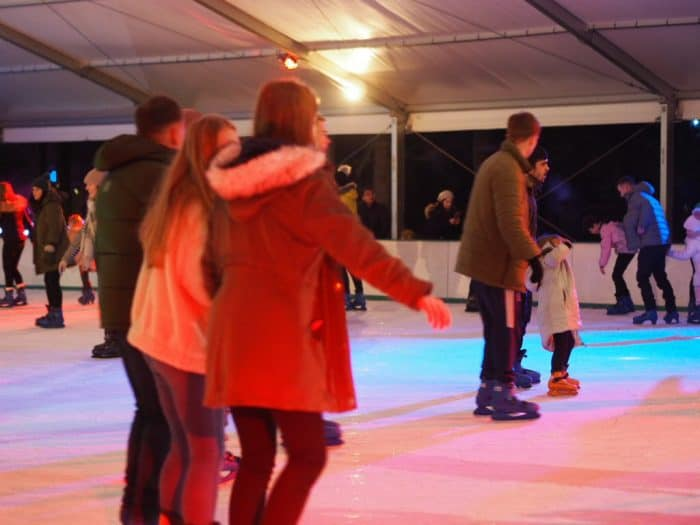 Ice skating at Stockeld Park Christmas Adventure