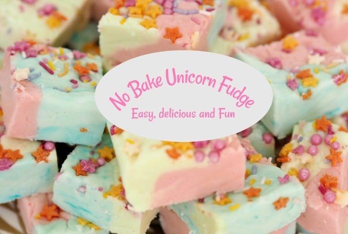 No Bake Unicorn Fudge