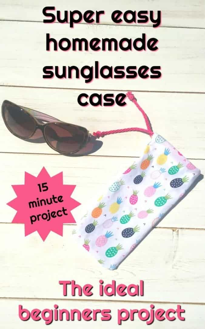 Super easy homemade sunglasses case! This glasses case is the ideal beginners sweing project.