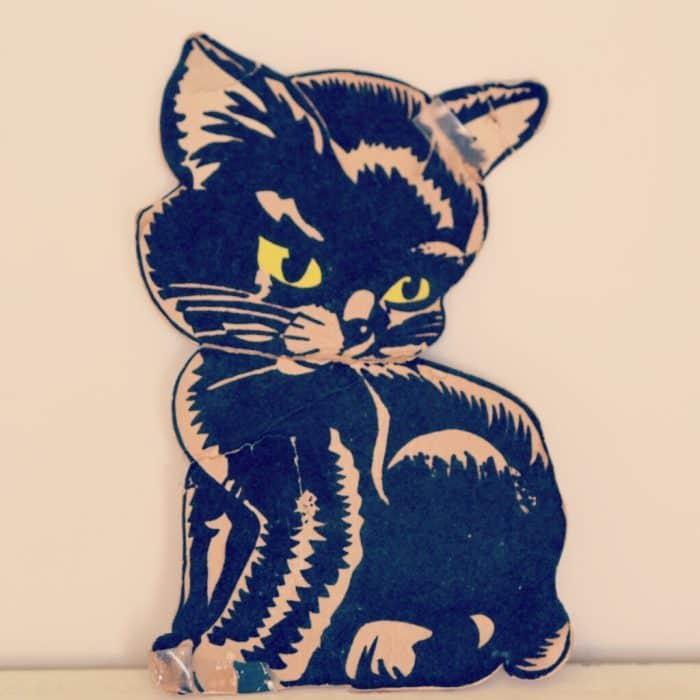 My Mam's lucky black wedding cat