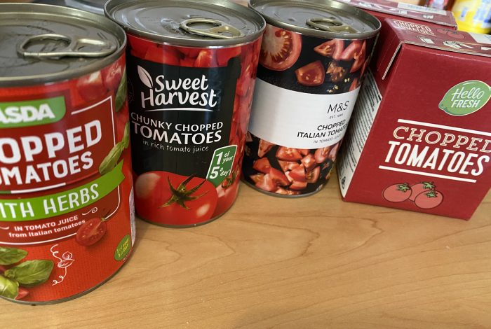 Random tins of tomatoes