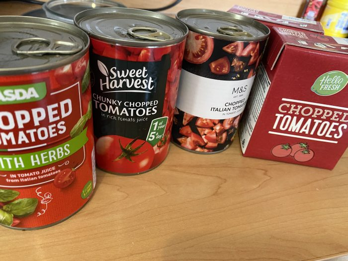 Random tins of tomatoes