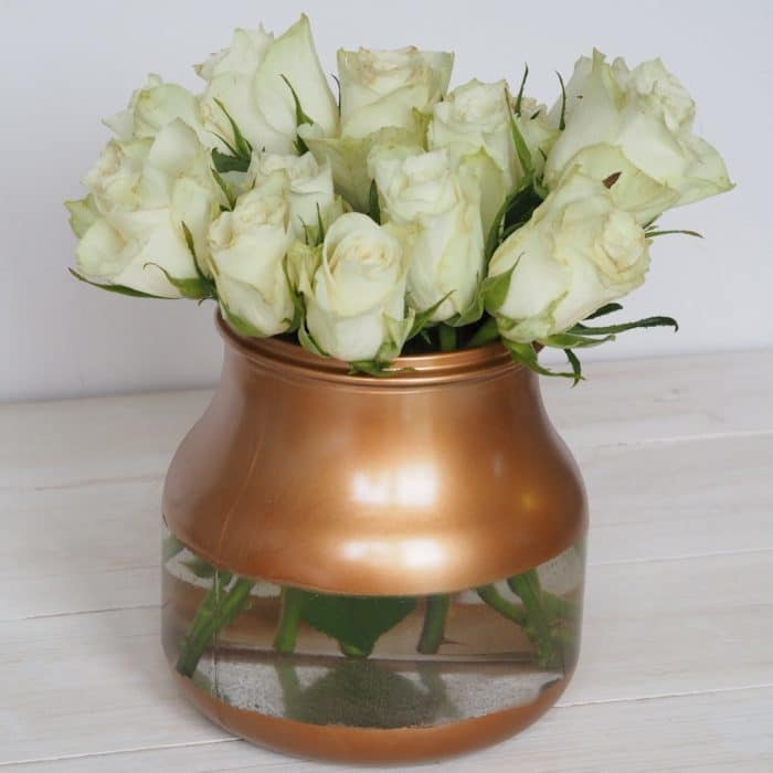 New gold painted vase