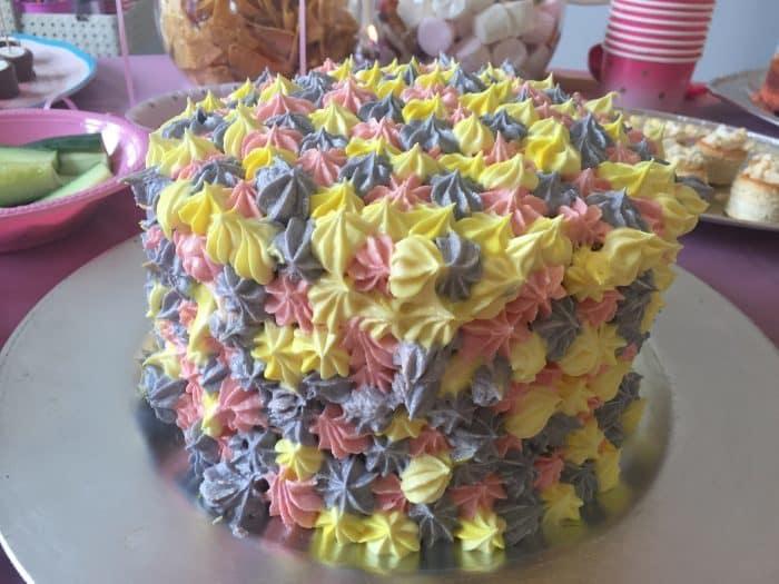 Homemade rainbow layered Birthday cake!