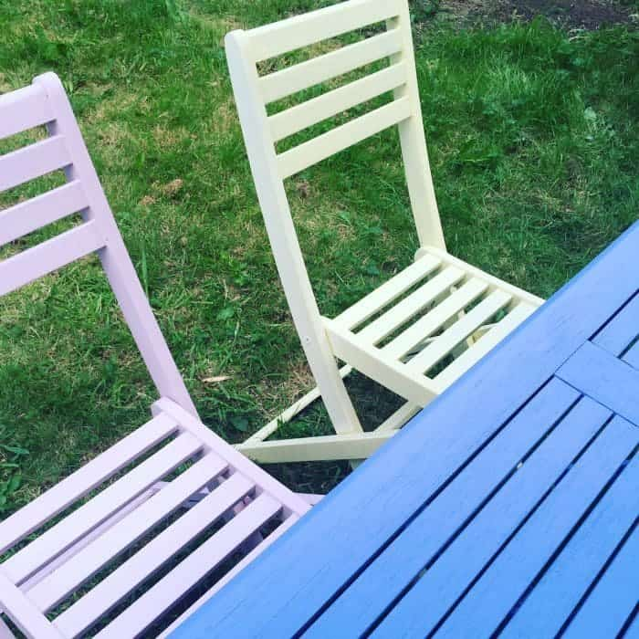 Upcycled table and chairs
