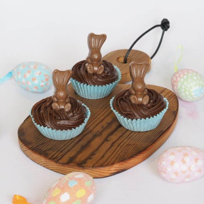 Chocolate cupcakes using Maltesers Bunnies