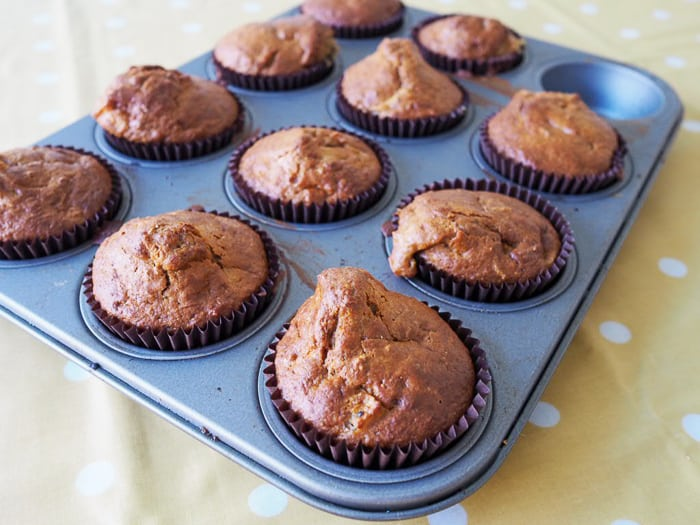 Apple and Honey Bran Muffins....