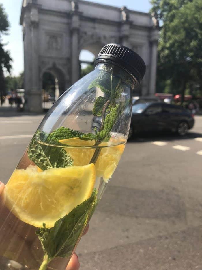 Orange and cucumber water