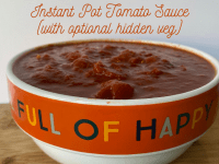 Instant Pot Tomato Sauce (with optional hidden veg)....