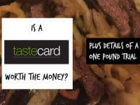 Is the TasteCard worth the money....