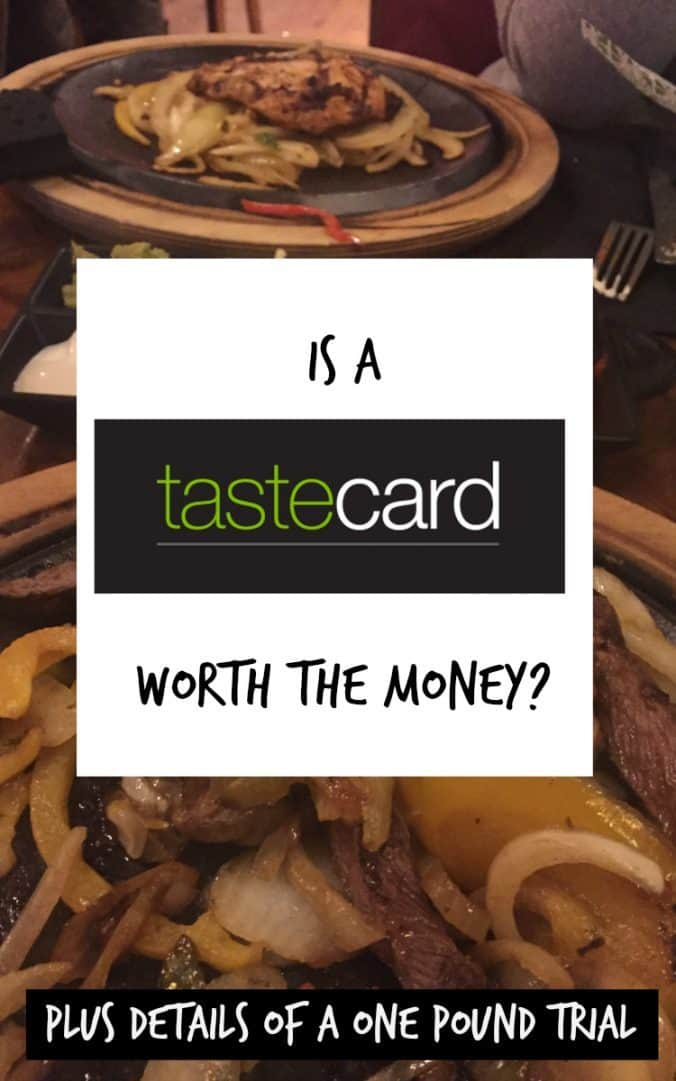 Is a Tastecard worth the money, plus details of a one pound trial