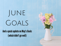 {June 2019}  This Month's life goals with a free goals tracker printable for you....