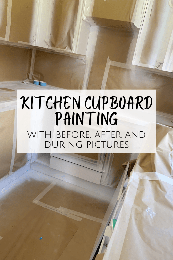 Kitchen Cabinet Painting - with before, after and during pictures!