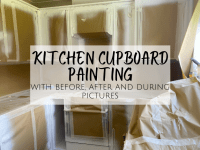 Kitchen Cabinet Painting - Before and After....