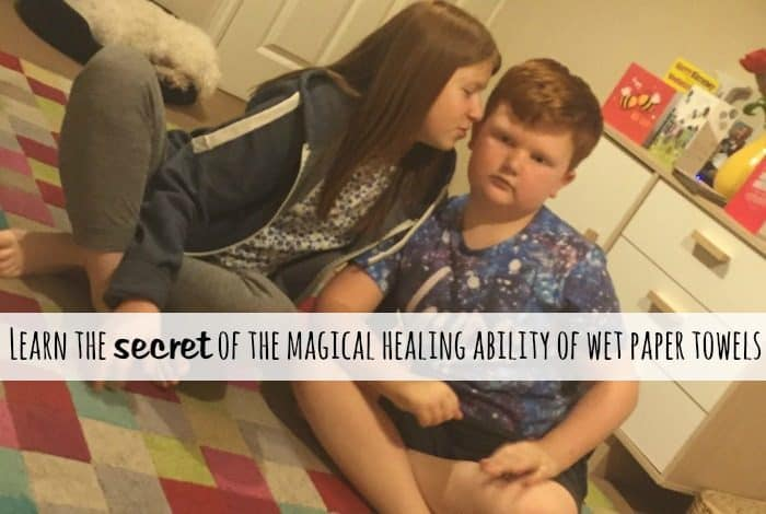 Learn the secret of the magical healing ability of a wet paper towel
